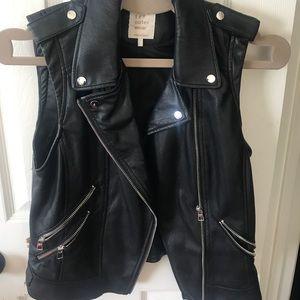 Zara Leather Moto vest