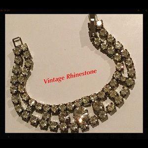 Jewelry - Vintage Rhinestone Bracelet, 1960's Vintage