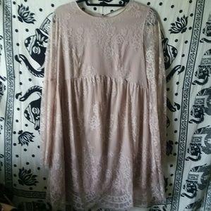 Light Pink laced dress
