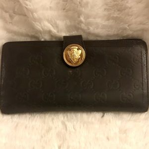 Vintage Gucci Brown Leather Wallet