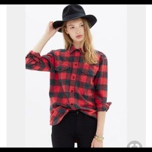 Madewell Flannel Cargo Workshirt in Buffalo Check