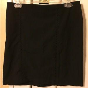 Cache Black Mini Skirt (size 6)