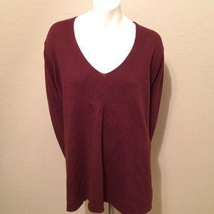 Eddie Bauer Burgundy Sweater 3X