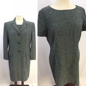 [Talbots] Size 14 2 Piece Coat Blazer Dress Set
