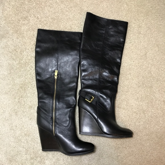 los angeles get online strong packing Coach Dorothy Wedge Knee High Boots