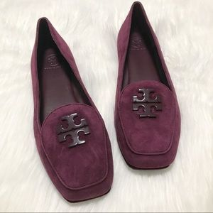 NEW Tory Burch Fitz Suede Logo Loafer