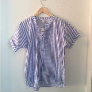 Jcrew shirt sleeve popover