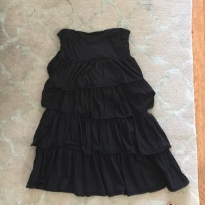 J.Crew Black Tiered Dress/Cover Up Sz M