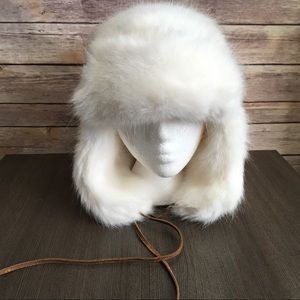 Restoration Hardware Winter White Earflap Hat