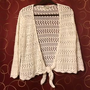 White crochet shrug size large 12/14