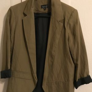 Olive Blazer from Top Shop