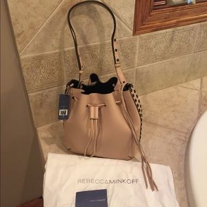 Rebecca Minkoff blush color bucket purse nwt
