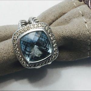 David Yurman London Blue Topaz Albion Ring