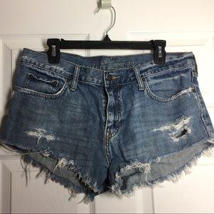 Old Navy Blue Jean Denim Cutoffs Mini Short Shorts