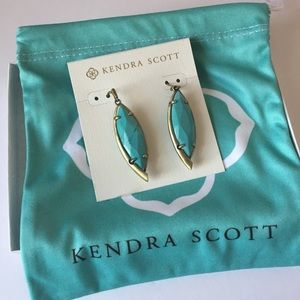 Kendra Scott Turquoise Maxwell Earrings. New!
