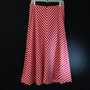 American Living Striped Long Length Full Skirt