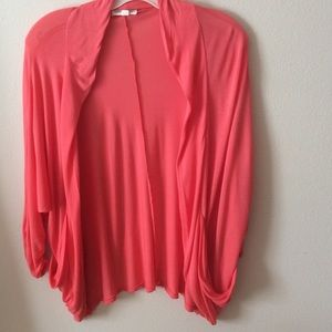 New Lightweight Coral Shrug