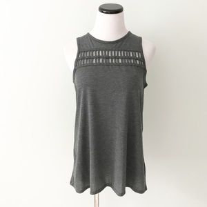 Mossimo Gray Tank Top cut out front