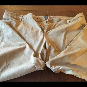 EUC Old Navy Plus Size Pixie Pants in Khaki