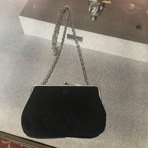 Black long chain mini purse