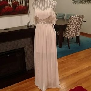 Pale Peach Dress - Prom, Homecoming, Night Out