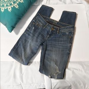 Express Distressed Skinny Jeans Size 00