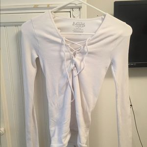 Free people white stretchy lace top