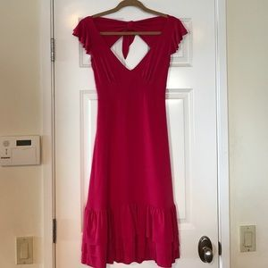 Pretty Little Raspberry Dress BACKLESS
