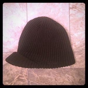 Aldo Dark Green Knit Billed Beanie Cap Hat Boho