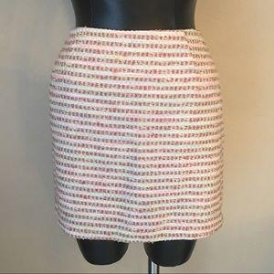 Trina Turk mini tweed sexy Skirt Size 4 pink gold