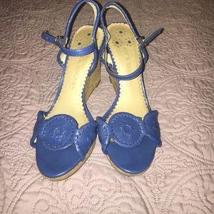 Blue Jack Rogers wedge heel sandals