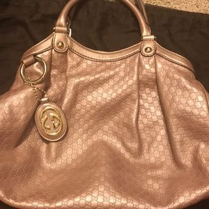 Authentic preloved Gucci blush hobo bag