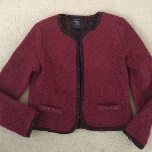 Cotton on red wool blend jacket