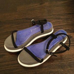 Jeffrey Campbell Purple White Mesh Platform Sandal