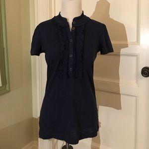 Lily Pulitzer Navy Short Sleeve Top