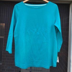 Talbots plus size 3/4 sleeve tee NWT Msrp$30