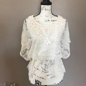 Adiva Lace Overlay Shirt