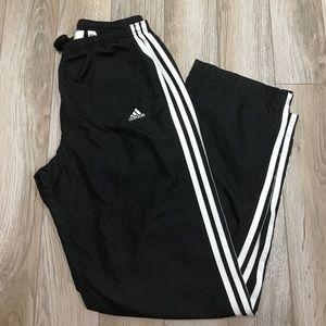 Adidas UNISEX Black White Stripe Warm Up Pants