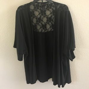 Torrid black lace sweater