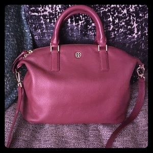 Tory burch burgundy Thea satchel