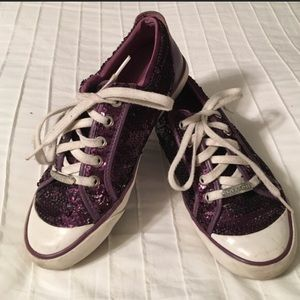 Sequined coach tennis shoes