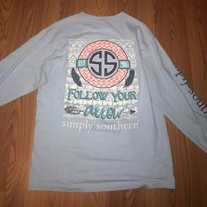 Simply southern size M long sleeve T