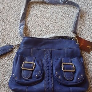 Tignanello Purple Italian Leather Purse