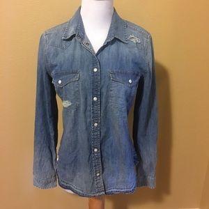 Women's Denim American Eagle shirt size Small