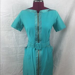 Kevan Hall Turquoise Dress Size 4
