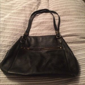 The Sak black leather double strap hobo Handbag