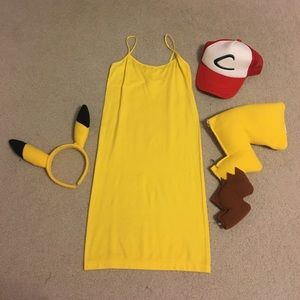 Pikachu costume with ash Ketchum hat
