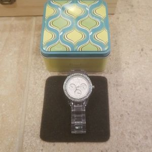 Fossil Clear Band Watch