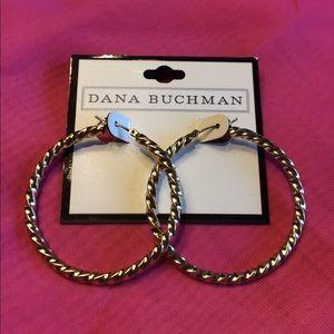 Dana Buchman gold hoop earrings