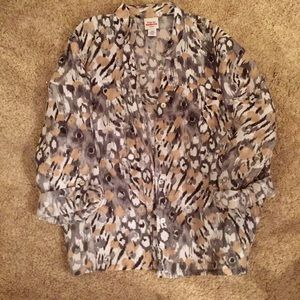 Ruby Rd. Animal Print Blouse